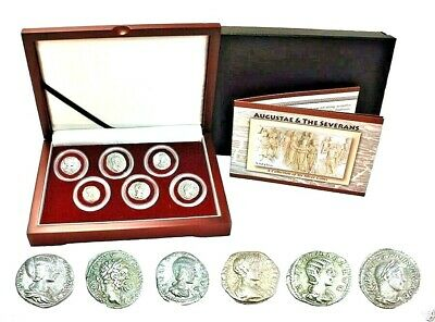 The Most Powerful Roman Women,A Collection Of 6 Silver Coins In Beautiful Box