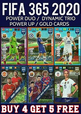 Panini Adrenalyn Xl Fifa 365 2020 Power Up - Multiple - Gold - Us Womens Team