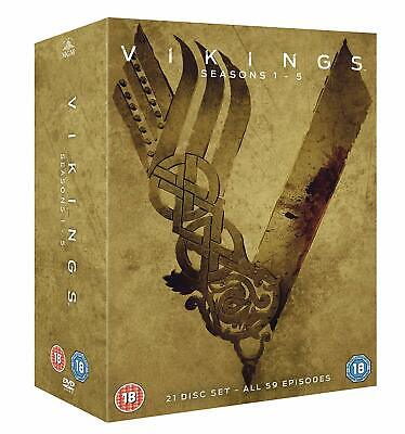 "Vikings The Complete Season 1-5 Collection Dvd Box Set 21 Discs R4 ""New&Sealed"""