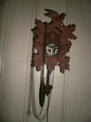Vintage Black Forest German Cuckoo Clock Made in Germany