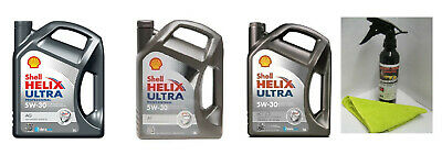 5 Litres SHELL HELIX ULTRA Engine Oil 5W/30 ECT Pro AF AG FREE Moon-Shine Wax!