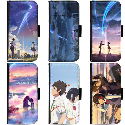 PIN-1 Anime Your Name Phone Wallet Flip Case Cover for Apple Sony 1+