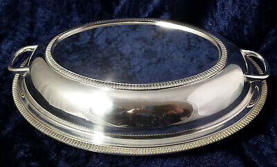 Vintage /Antique Gladwin Ltd Embassy Silver Plate Oval Entree Dish & Lid c.1920s
