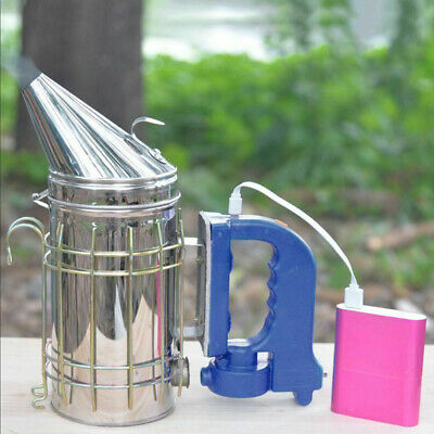 Treatment Beekeeping Smoker Stainless Steel Tool Apiculture Rechargeable