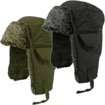 Adult Unisex Mens Insulated Faux Fur Winter Trapper Hat  / One Size