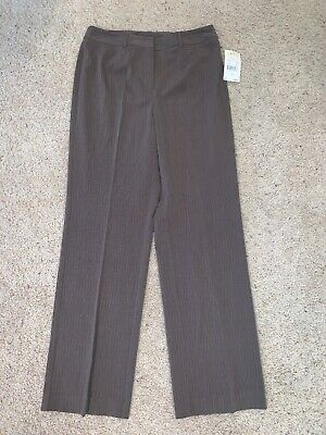 NWT New Women's Requirements Brown Pinstripe Dress Pants Size 6