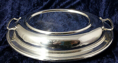 Vintage /Antique  Silver Plated EPNS Oval Entree Dish & Lid c.1920s