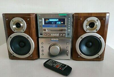 Sharp Md-M3 Minidisk/Cd Micro Hi-Fi With Speakers And Remote Control Md-M3H