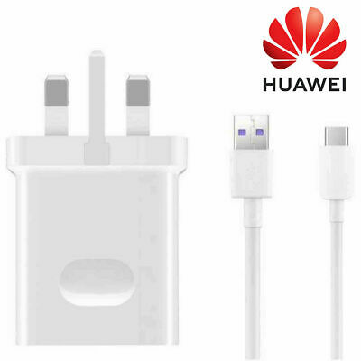 Genuine Huawei Fast Mains Charger Plug Charging Adapter & 1M Data Sync Cable Lot