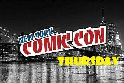 NYCC 2019 NEW YORK COMIC CON THURSDAY BADGE/ PASS ADULT/CHILD OCT. 3rd JAVITS