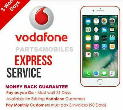 Factory Unlock Service VODAFONE UK For Apple iPhone 7 8 ALL MODEL SUPPORTED