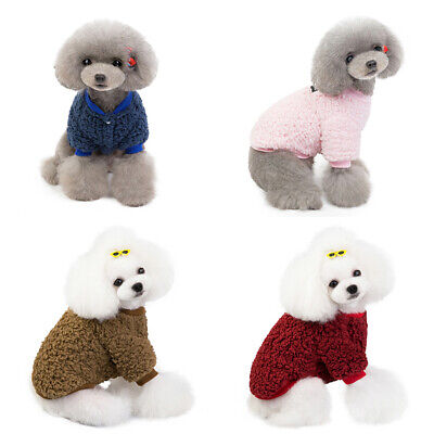 Clothes For Pet SWEATER Chihuahua Yorkie Small Dog Coat Jacket Fleece Soft Warm