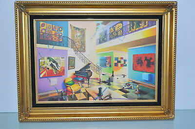 "Orlando Quevedo Framed Giclee - Another Day -  Size: 26""L x 20""W x 2""H."