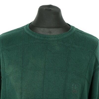 Vintage IZOD Cotton Jumper | Sweater Top Pullover Knit Retro Patterned Thick