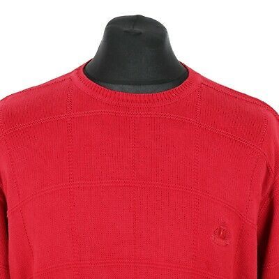 IZOD Cotton Jumper | Sweater Top Pullover Knit Retro Patterned Thick Vintage