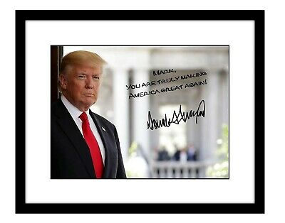 Donald Trump 8x10 Signed photo Personalized to YOUR NAME president America maga