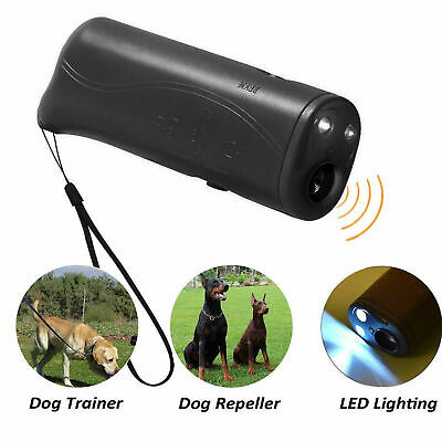 LED Light Ultrasonic Anti Dog Barking Pets Trainer Gentle Chaser Petgentle Style