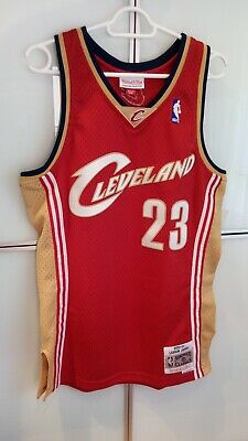 Camiseta NBA Mitchell & Ness, Cleveland, James, talla S, roja