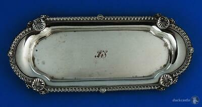 Superb GEORGE III OLD SHEFFIELD PLATE SNUFFER / PEN / JEWELLERY TRAY c1815