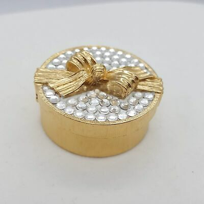 Estee Lauder Crystal Hat Gift Box Solid Perfume Compact White Linen Fragrance