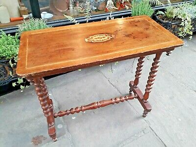 Antique Console Table / Hall Table / Bobbin turned Legs