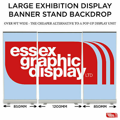 EXHIBITION DISPLAY ALTERNATIVE TO POP UP DISPLAY STAND SET 3 Banner Stands