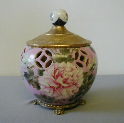 Nicholas Haydon Nyc Bronze Mounted Porcelain Chinoisserie Covered  Pot/ Bowl