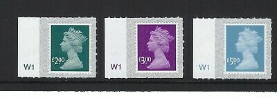 M19L High value security machin definitives - £2.00, £3.00 & £5.00 CYL Singles