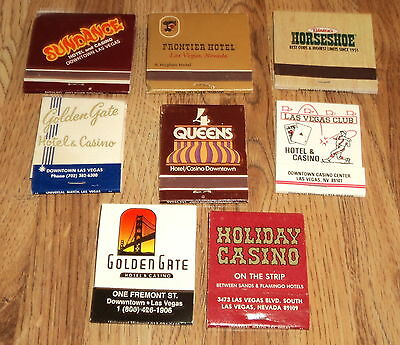 Lot Of Eight Matchbooks From Various Las Vegas Hotel And Casinos