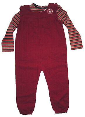 New Girls Red NEXT Playsuit & Top Age 3-4 Years RRP £18