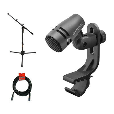 Sennheiser e 604 Instruments Cardioid Microphone w/ Mic Stand & XLR Cable