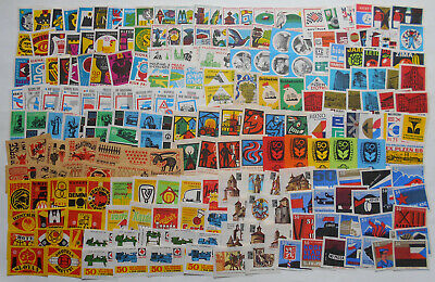 More Than 200 Czechoslovakian Matchbox Labels from 1968