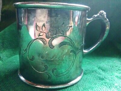 Antique Victorian Childs Silver Quadruple Plate Christaining Cup Pairpoint Co.