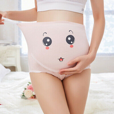 Maternity Panties Cute Cartoon Emoji Pregnant Women High Waist Briefs Underwear
