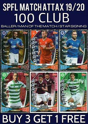 Topps Spfl Match Attax 19/20 2019/20 100 Club Man Of The Match Legends Duo Cards