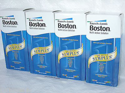 BOSTON SIMPLUS CONTACT LENS SOLUTION 240ml or 480ml Bausch and Lomb New