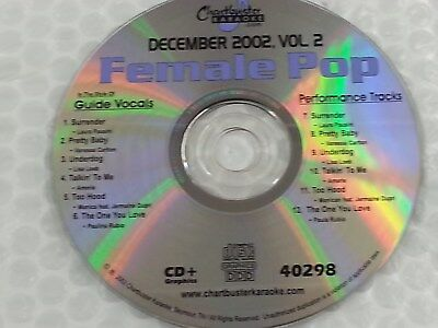 Chartbuster Karaoke Disc 40298 Female Pop December 2002 Vol 2 CD+G CDG