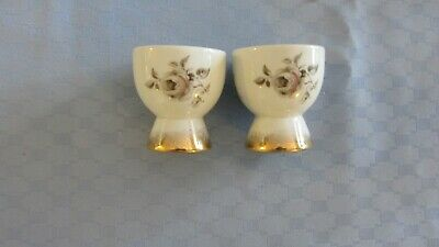 Pair Vntage Egg Cup  Made England Novelty Australian Pottery Westminster roses