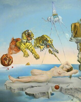Salvador Dali - Dream Caused by the Flight of a Bee Silk Print Poster