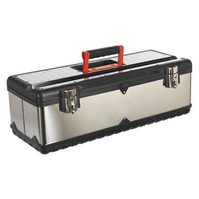 AP660S Sealey Stainless Steel Toolbox 660mm with Tote Tray [Tool Storage]