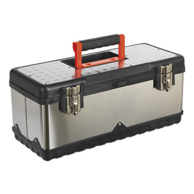AP505S Sealey Stainless Steel Toolbox 505mm with Tote Tray [Tool Storage]