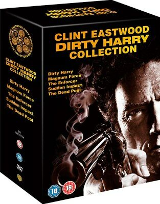 Dirty Harry 5 Film Collection DVD Boxset Clint Eastwood New R2+R4 Pal