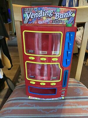 "M&M, Mars Candy Vending Machine Bank 2004 Collectible 14"" Tall Toy Classic Candy"