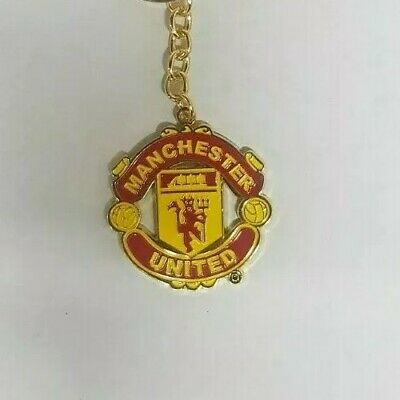 Manchester United Fc Man Utd Club Crest Metal Keyring Key Ring Gift Fathers Day
