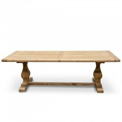 Stunning Elm Wood Dining Table 2.4m - Rustic Natural