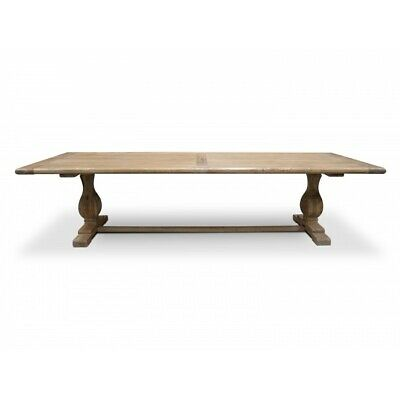 Recycled Elm Timber Dining Table 3m - Rustic Natural - 120cm (W)