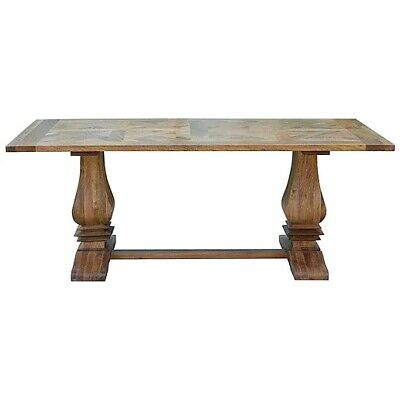 Stunning French Provincial Parquetry Dining 180cm Solid Mango