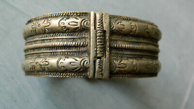 Antique Scarce 18th Century Silver Bridal Bracelet