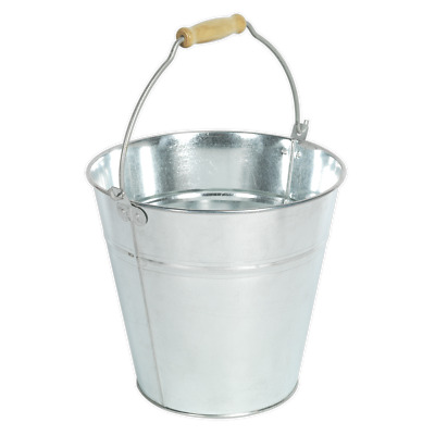 BM10 Sealey Tools Bucket 14ltr Galvanized [Janitorial] Buckets Water Container