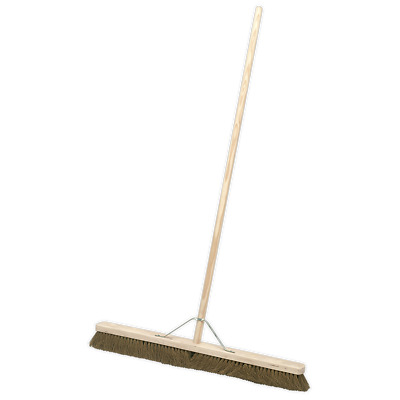 "BM36S Sealey Broom 36""(900mm) Soft Bristle [Janitorial]"